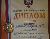 Подробнее: медали с Первенства России